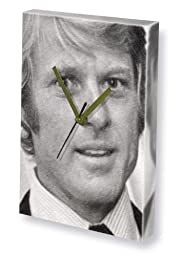 ROBERT REDFORD - Canvas Clock (LARGE A3 - Signed by the Artist) #js002