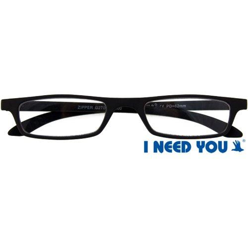 Montures de lunettes  I NEED YOU Zipper - Lunettes de lecture - Noir ... 0bcdbf4ec1f2