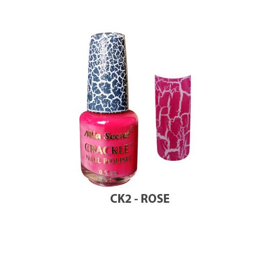Mia Secret Crackle Nail Polish Rose 0.5oz (CK2)