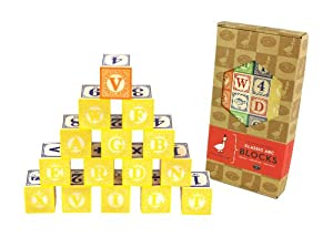 Classic Embossed Alphabet Blocks ABC