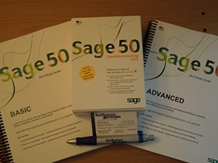 Sage 50 Complete Accounting 2013 US Edition Single User bundle that includes 2 self study guides (Basic and Advanced)