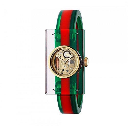 Gucci donna-Orologio da polso Watch al quarzo plastica WEB YA143501