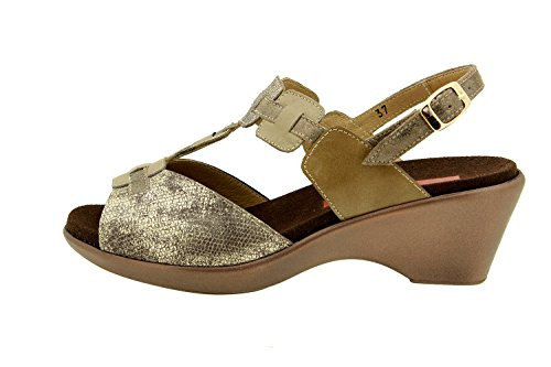 Scarpe donna comfort pelle Piesanto 8853 sandali soletta estraibile comfort larghezza speciale