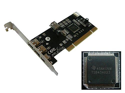KALEA-INFORMATIQUE © - Carte Controleur PCI vers FireWire 400 IEEE1394a - 3 ports - Chipset TEXAS INSTRUMENTS TI TSB43AB22A