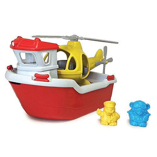 Green-Toys-Rescue-Boat-with-Helicopter