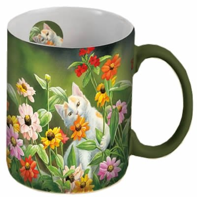 Lang Please Don'T Eat The Zinnias Mug, 14-Ounce