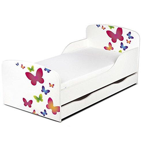 PriceRightHome Papillons Conception MDF Lit Enfant Avec Rangement