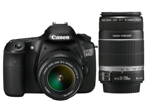 Canon-EOS-60D-SLR-Fotocamera-Digitale-Reflex-18-Megapixel-Kit-EF-S-18-55mm-IS-e-EF-S-55-250mm-IS
