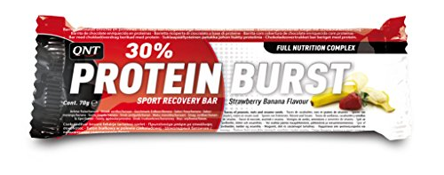 QNT Protein Burst 30% 70 g Strawberry and Banana Muscle Growth and Recovery Snack Bars - Box of 12