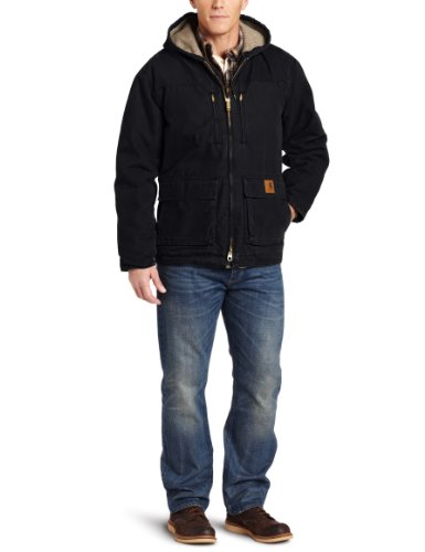 41vSO40e JL Carhartt Mens Big Tall Jackson Coat Sherpa Lined Sandstone, Black, X Large/Tall PROMO OFFER