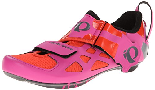 Pearl Izumi Women's W Tri Fly V Carbon Hp/b Tri Cycling Shoe, Hot Pink/Black, 40 EU/8.4 B US (Pink Cycling Shoes compare prices)
