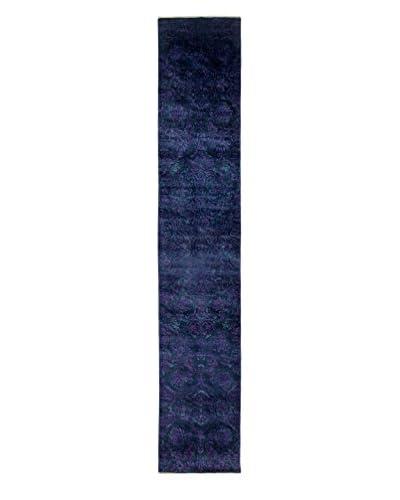 Darya Rugs Transitional Oriental Rug, Black, 13' 10 x 2' 7 Runner