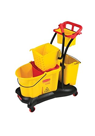 Rubbermaid Commercial FG778000YEL WaveBrake Side Press Mopping Trolley, 8.75-Gallon Capacity, Yellow