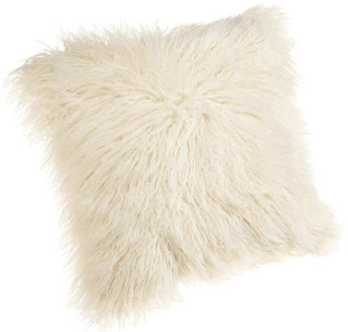 Cheapest Prices! Brentwood 18-Inch Mongolian Faux Fur Pillow, White