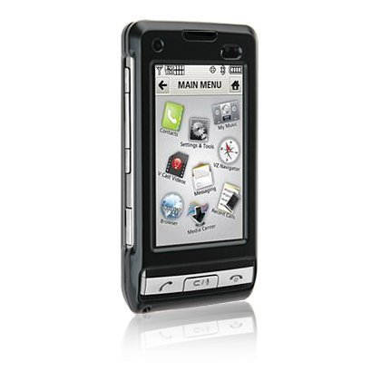 High Quality RUBBER FEEL Black Snap-On Cover Hard Crystal Case Cell Phone Protector for LG DARE / 9700