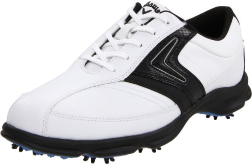 Callaway Men's C Tech Saddle M162-12 Golf Shoe,White/Black,9