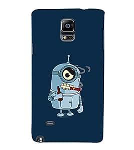Smoking Cartoon 3D Hard Polycarbonate Designer Back Case Cover for Samsung Galaxy Note 4 :: Samsung Galaxy Note 4 N910G :: Samsung Galaxy Note 4 N910F N910K/N910L/N910S N910C N910FD N910FQ N910H N910G N910U N910W8