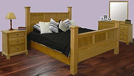 Forest Designs Shaker Three Drawer Nightstand: 25W x 30H x 18D (No Bed, Dresser or Mirror) 25w x 30h x 18d Red Oak