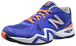 New Balance Men\'s MC1296 Stability Tennis Shoe, Blue/Orange, 10 D US