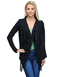 Curvy Q Full Sleeve Women's Blue Shrug