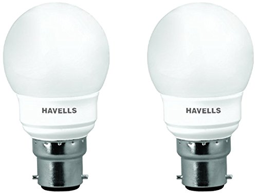 Havells Ball 7 Watt CFL Bulb (Warm White, Pack of 2) Image
