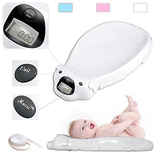 Bianco bilancia elettronica bambino con l'opzione musicale e di memoria integrato
