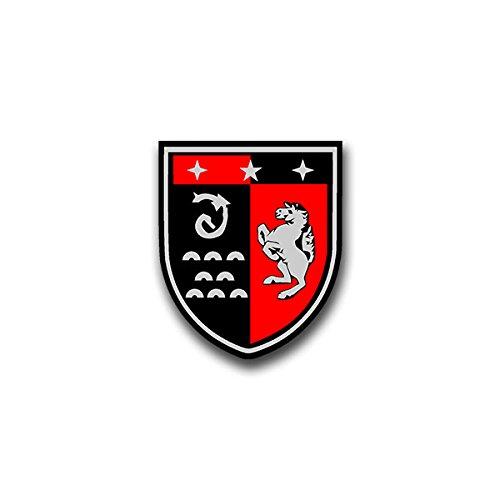 Aufkleber / Sticker - Panzerbataillon201 Sticker Aufkleber PzBtl Panzer Btl Bataillon Hemer Leo Wappen Abzeichen Emblem Bundeswehr passend für Opel Astra VW Golf GTI 3er BMW 6x7cm #A806