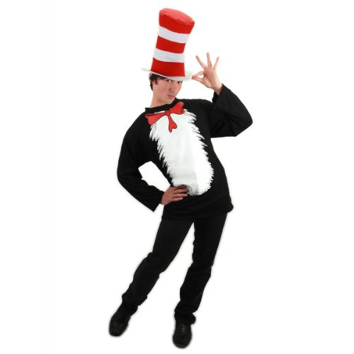 Cat in the Hat T-Shirt Kit Costume - Small/Medium - Chest Size 38-40