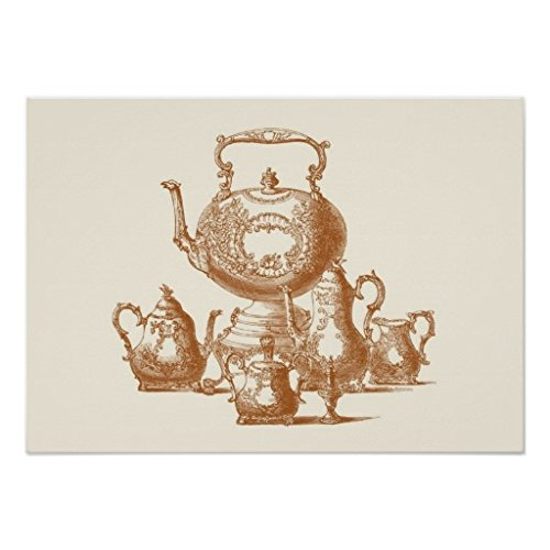 Tea Time Vintage Style Russian Poster
