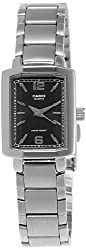 Casio Enticer Analog Black Dial Womens Watch - LTP-1233D-1ADF (SH47)