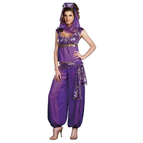 [GSG Genie Costume Adult Womens Sexy Halloween Fancy Dress] (Gothic Ballerina Halloween Costumes)