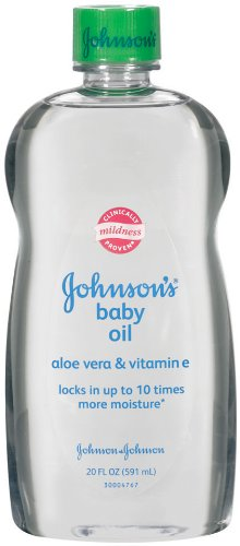 Johnson's Baby Oil, Aloe Vera and Vitamin E, 20 Ounce (Pack of 2)