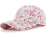 (ダブルビーインポート)W.B.Import レディース キャップ 帽子 サイバイザー 日除け 日差し 花柄 レトロ フラワー かわいい カジュアル ホワイト