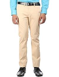 Oxemberg Slim Fit Men's Beige Cotton Trouser