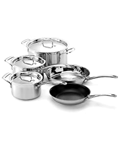 Le Creuset 3-Ply Stainless-Steel 8-Piece Cookware Set