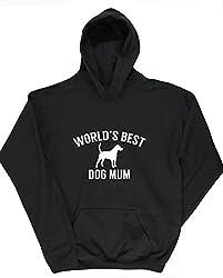 HippoWarehouse World's best dog mum kids unisex Hoodie hooded top