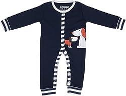 Lil Penguin Baby Boys' Cotton Romper (LP18B5, Blue, 6-9 months)