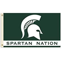NCAA Michigan State Spartans 3-by-5 Foot Nation Flag With Grommets by BSI