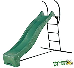 Heavy Duty Wavy Garden Slide with Strong Metal Steps - 3m slide, 1.5m steps