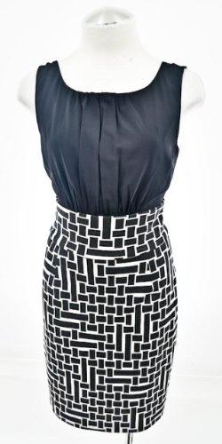 Trina Turk Black & White Block Design Dress