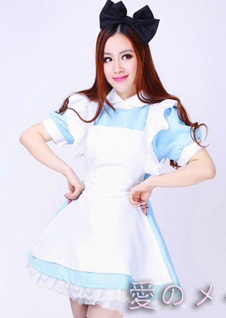 Alice in Wonderland Alice Cosplay Costume Set NWCOS04‏