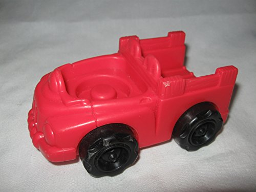 Fisher Price Little People RED Pick Up Truck Farm, Barn, Animal Sounds Zoo Play Set REPLACEMENT Vehicle OOP 2001 - 1