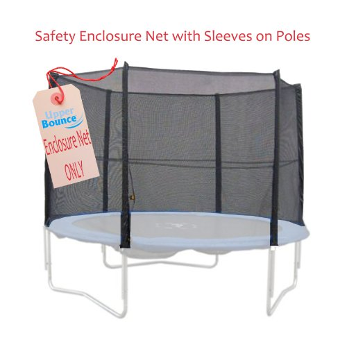 Upper-Bounce-10-Feet-Trampoline-Enclosure-Safety-Net-for-10-Feet-Round-Frames-Poles-Not-Included