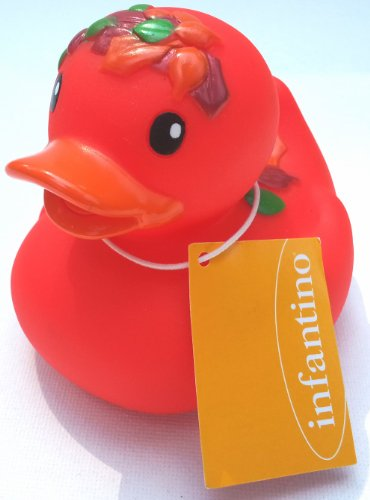 Fall Colored Rubber Ducky