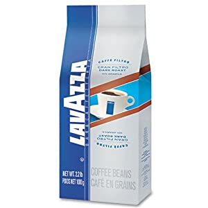Lavazza : Gran Filtro Dark Italian Roast Coffee, 2.2-lb Whole Bean Bag -:- Sold as 2 Packs of - 1 - / - Total of 2 Each