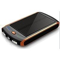 ソーラー パワーバンクiPhone iPad チャージャー モバイル USB 充電器 ソーラー バッテリー 6000mAh
