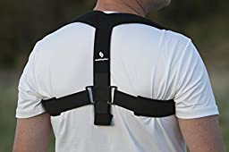 StabilityAce Upper Back Posture Corrector Brace and Clavicle Support for Fractures, Sprains, and Shoulders (Small)