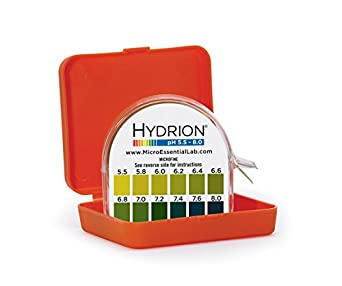 Micro Essential Lab MF-1606 Hydrion Microfine Short Range pH Test Paper Dispenser, 5.5 - 8.0 pH, Double Roll