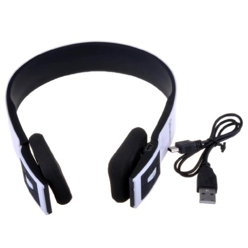Victsing White Jogger Bluetooth 3.0 Stereo Music Headphones Wireless Headset With Mic For Samsung Galaxy S4 Siv S3 Siii S2 Sii S1 Note 3 Note 2 Note 1 Ipod Ipod Nano Ipod Touch Iphone 5 5G 5S 4S 4 Ipad 4 3 2 Ipad Mini Htc One M7 Sony Xperia Z L36H L36I No