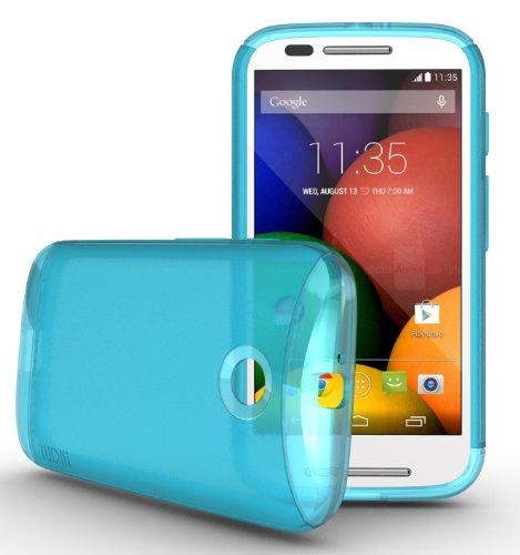 Tudia Ultra Slim Lite Tpu Bumper Protective Case For Motorola Moto E (2014) (Teal)